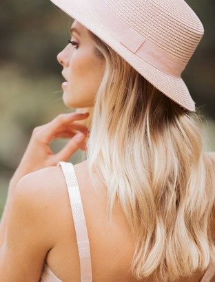 Forever New Bonnie Boater Hat - Blush - 00