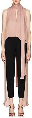Juan Carlos Obando Women's Georgette High-Low Blouse - Pink