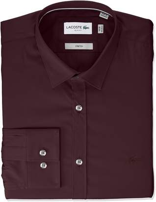 Lacoste Men's Slim Fit Stretch Cotton Poplin Shirt