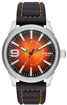Diesel Rasp NSBB Stainless Steel and Black Silicone Strap Watch