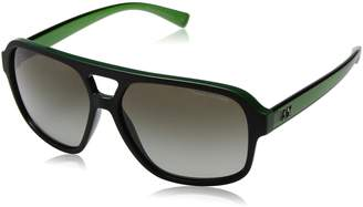 Armani Exchange A|X  Green Gradient Square Sunglasses