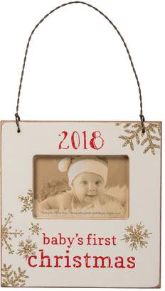 """""""Baby's First"""" 3"""" x 2"""" Frame Christmas Ornament"""
