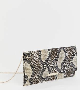 Accessorize Kelly snake print clutch bag
