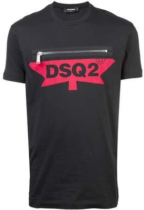 DSQUARED2 zipped logo T-shirt