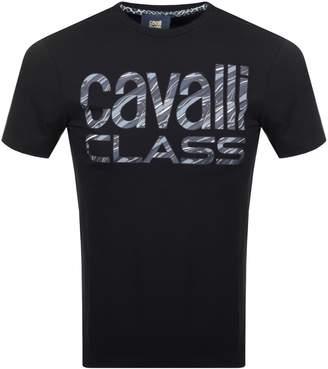 Just Cavalli Cavalli Class Logo T Shirt Black