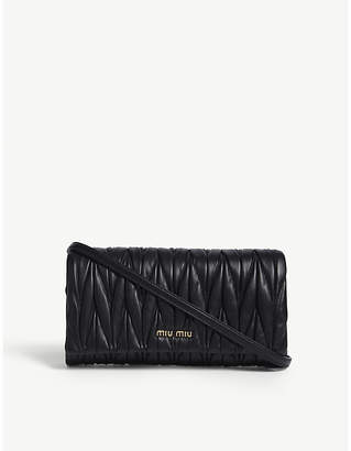 Miu Miu Matelassé nappa-leather clutch