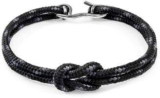 ANCHOR & CREW - Black Foyle Silver & Rope Bracelet
