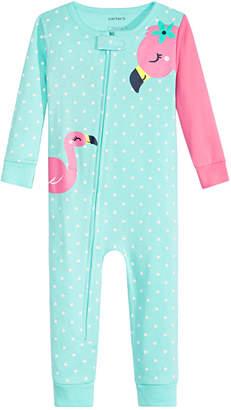 Carter's Carter Baby Girls Cotton Flamingo Pajamas