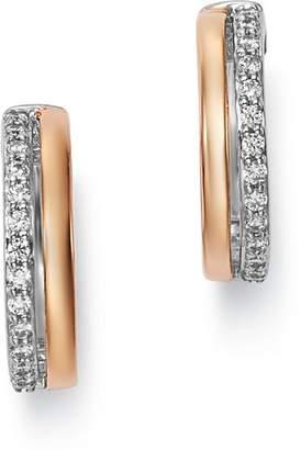 Bloomingdale's Diamond Huggie Earrings in 14K Rose Gold & 14K White Gold, 0.25 ct. t.w. - 100% Exclusive