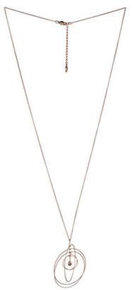 BCBGeneration Orbital Rose Goldtone Multi-Circle Pendant Necklace
