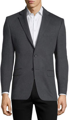 Neiman Marcus Cashmere Two-Button Blazer, Charcoal