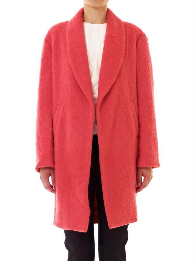 Elizabeth and James Colton mohair coat