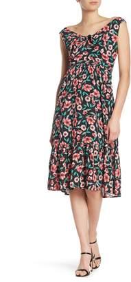 Heartloom Camila Floral Tie Keyhole Midi Dress