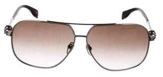Alexander McQueen Metal Tinted Sunglasses