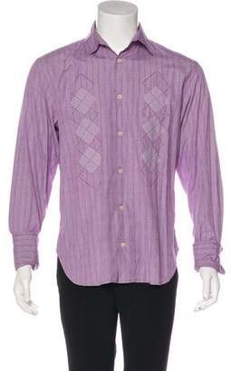 Paul Smith French Cuff Plaid Shirt