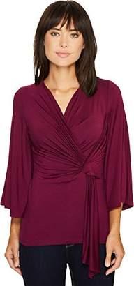 Karen Kane Women's Twisted Drape Top