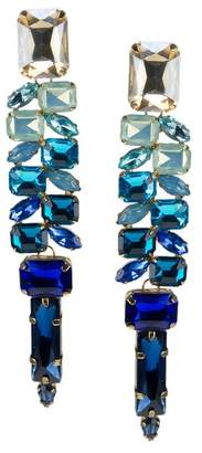 Jardin Ombre Multi-Cut Glass Stone Statement Earrings
