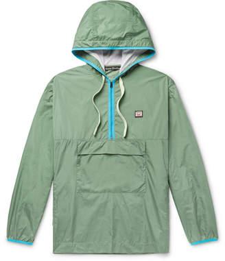 Acne Studios Osaze Logo-Appliqued Nylon Hooded Anorak - Men - Gray green