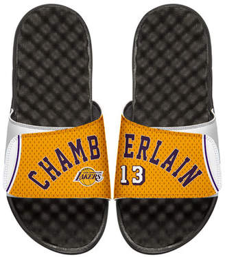ISlide Men's NBA Retro Legends Wilt Chamberlain 13 Jersey Slide Sandals, White