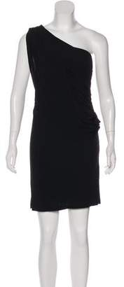 Haute Hippie One Shoulder Mini Dress