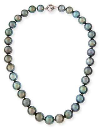 "Belpearl Tahitian Black Pearl Necklace, 18"""