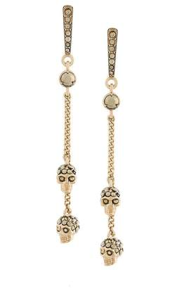 Alexander McQueen chain skull earrings