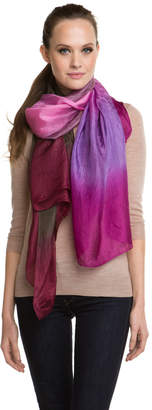 La Fiorentina Women's Fuchsia Ombre Silk Scarf