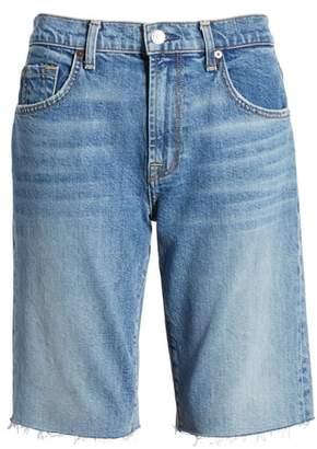 7 For All Mankind High Waist Denim Bermuda Shorts