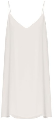Raey Deep V Silk Slip Dress - Womens - Ivory