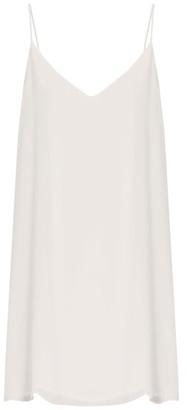 Raey - Deep V Silk Slip Dress - Womens - Ivory