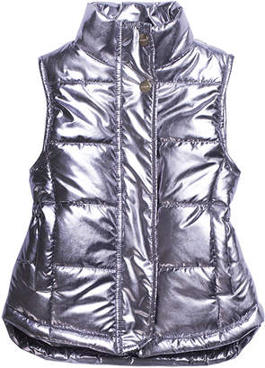 Imoga Metallic Quilted Puffer Vest, Size 4-6