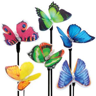 Exhart 6 Piece Solar Fiber Optic Butterfly Stake Set
