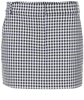 Tibi Gingham miniskirt