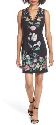 Foxiedox Flora Embroidered Sheath Dress