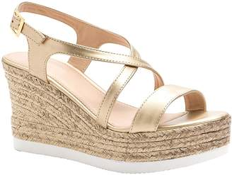 ShoBeautiful Women's Espadrille Platform Wedge Sandal Open Toe Crisscross Strappy Slingback Dress Summer Shoes 8
