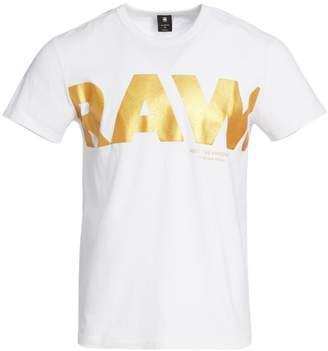 G Star Raw Metallic Raw Logo Graphic Tee