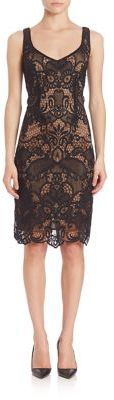 Laundry by Shelli Segal V-Neck Two Tone Lace Dress $295 thestylecure.com