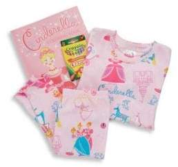 Books To Bed Little Girl's& Girl's Cinderella Pajama and Book Set