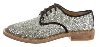 Marc By Marc JacobsMarc by Marc Jacobs Glitter Round-Toe Oxfords