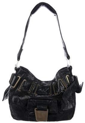 R & Y Augousti R&Y Augousti Belted Python Shoulder Bag