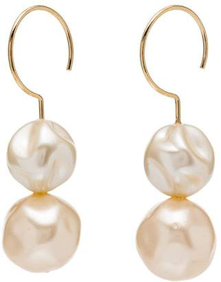 Beaufille gold-plated pearl drop earrings