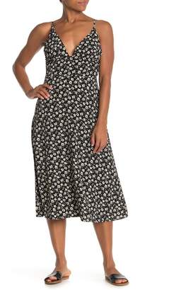 Know One Cares Floral Print Midi Dress