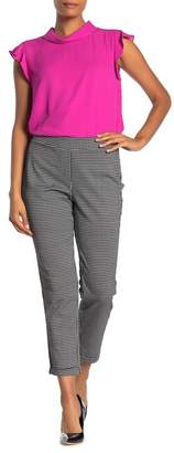 Vince Camuto Houndstooth Cropped Cuff Pants