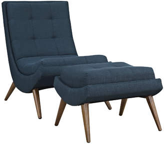 Modway Ramp Lounge Chair and Ottoman