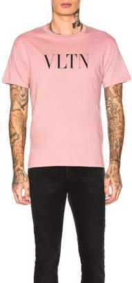 Valentino Logo Tee in Pink | FWRD
