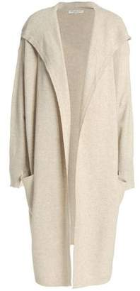 Halston Knitted Hooded Cardigan
