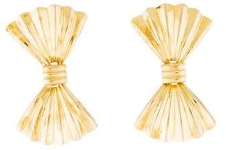 14K Bow Tie Drop Earrings