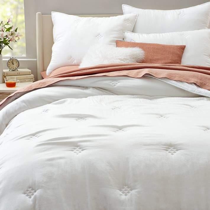 Washed Silk Quilt - White