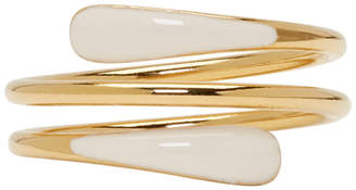 Isabel Marant Gold and Off-White Resin Ring
