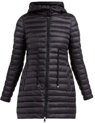 Moncler Barbel Quilted Down Coat - Womens - Black